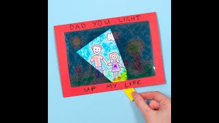 How To Make A You Light Up My Life Card | Fathers Day Crafts