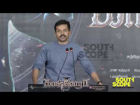 Karthi speaks about Kashmora at the film's press meet
