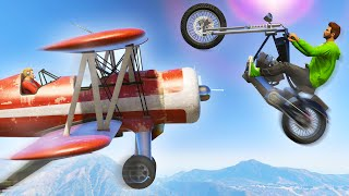 JUMPING OVER PLANES! (GTA 5 Funny Moments)