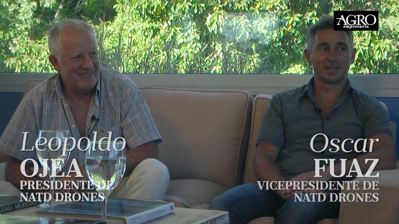 Leopoldo Ojea, Presidente y Oscar Fuaz, Vicepresidente - Natd Drones