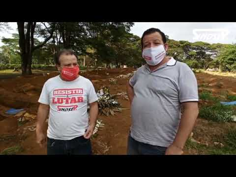 João Batista e Manoel Norberto visitam o Cemitério Vila Formosa