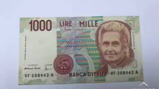 Old Italian Banknote 1000 Lira VALUE