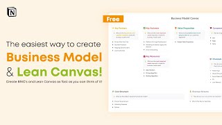 The Easiest way to Create Business Model Canvas & Lean Canvas