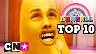 Удивительный мир Гамбола | ТОП 10 глупейших моментов с Банана Джо | Cartoon Network