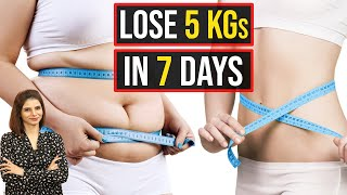 How To Lose Weight Fast 5Kg In 7 Days | Weight Loss In One Week