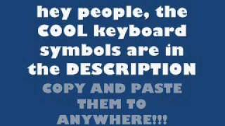 Cool keyboard symbols! (♥ ♠✖✔☢☣)