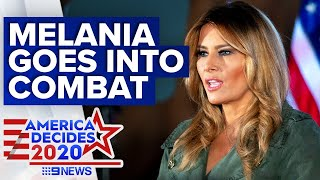 Melania Trump slams 'socialist' Joe Biden in Pennsylvania | 9News Australia