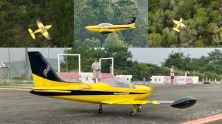 DJI FPV drone chase Sebart SIAI-Marchetti SF260 50E Yellow Black Scheme Maiden Flight @ HKMEC