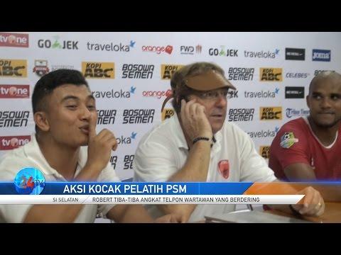 Aksi Kocak Pelatih PSM Makassar Saat Presscon