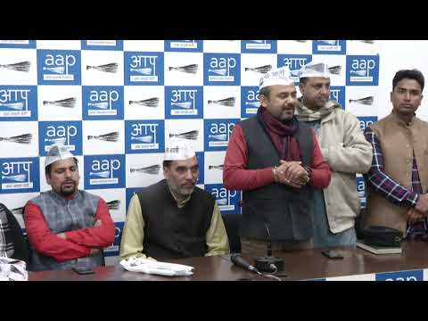 Cong and BJP People From Timarpur and Burari Joined AAP in Presence of AAP Leaders
