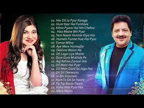 Download BEST Songs Udit Narayan & Alka Yagnik / Evergreen romantic songs / Awesome Duets - SUPERHIT JUKEBOX HD Mp4 3GP Video and MP3