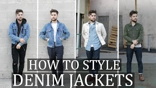 How To Style: The Denim Jacket | Mens Fashion Outfit Ideas