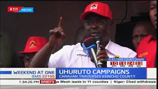 Jubilee leaders shun Raila Odinga as they traverse Kericho in campaigns