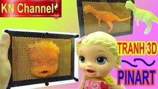 TẠO TRANH 3D GƯƠNG MẶT BÉ NA BẰNG ĐỒ CHƠI PINART 3Dimensional pin sculpture Baby alive doll