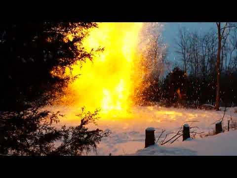 Thermite explosion over 100lbs!!! Massive!!!