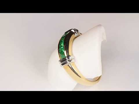 Estate Ring with Synthetic Emerald in 14kt