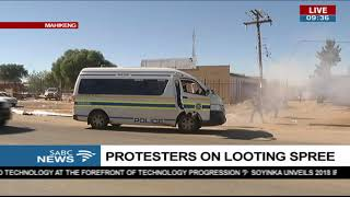 Rubber bullets fired | Looters being dispersed by police in Mahikeng