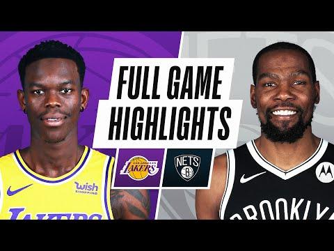 Brooklyn Nets vs Los Angeles Lakers</a> 2021-04-11