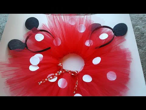 DIY TUTU MINNIE MOUSE SUPER FACIL Y BONITO