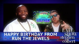 Run The Jewels Sing Happy Birthday To Stephen