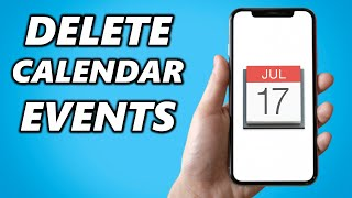 How to Delete Calendar Events on iPhone!