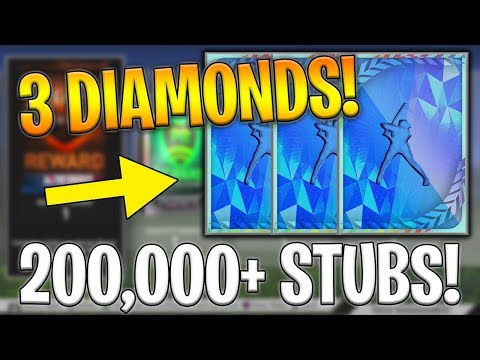3 DIAMONDS! 200,000+ STUBS! WORLD SERIES PACK OPENING! MLB The Show 19 Diamond Dynasty