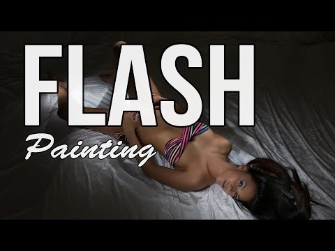 Flash painting for glamour photography – hot one light setup