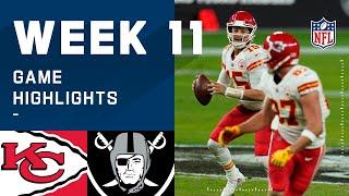 Chiefs vs. Raiders Week 11 Highlights | NFL 2020