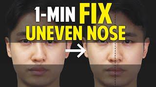 Fix Uneven Nose|Facial Asymmetry in 1-Minute|Balancing Exercise
