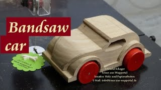 How to make a wooden VW Beetle car on the Pegas band saw