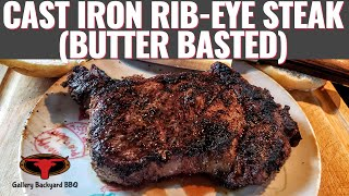 Cast Iron Rib Eye Steak ( Butter Basted ) | The Best Steak you'll ever make.