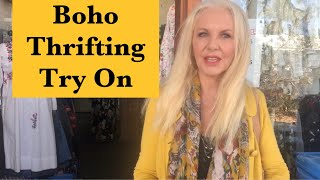 Boho Thrift Try On Thrifting For Boho Mature Women