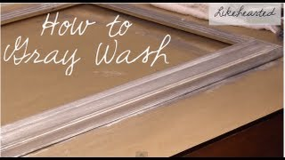 How to Graywash Frames - Restoration Hardware Rustic Modern Look