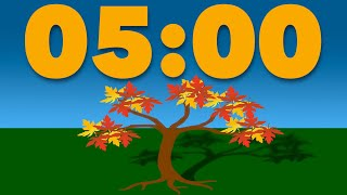 5 Minute Timer: Fall, Autumn, or Thanksgiving Animated Timer