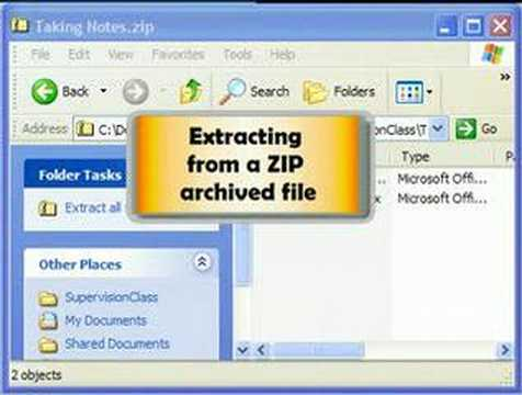 How to UnZIP (extract) Files | EduTube Educational Videos