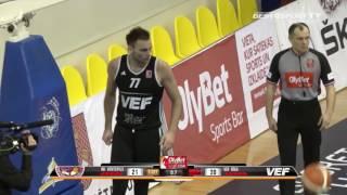 """BK """"Ventspils"""" pārspēj """"VEF Rīga"""" 14_01_17"""