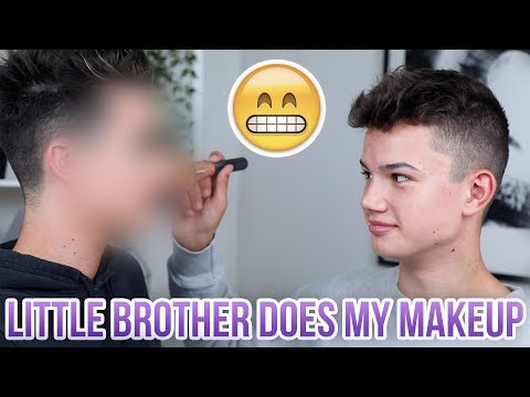 LITTLE BROTHER DOES MY MAKEUP!