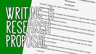 Writing a Research Proposal | Essay Tips