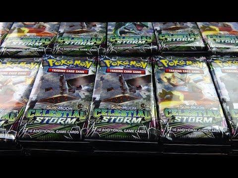 Opening Pokemon Cards – 1,000 Celestial Storm Pokemon Booster Packs!