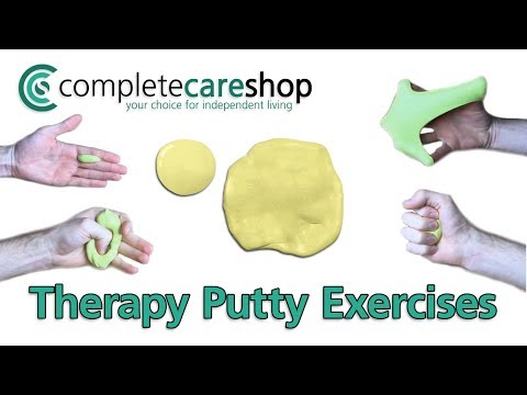 Coloured Resistant Therapy Putty Hand Exercises