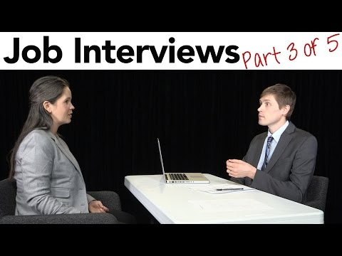 How to Interview for a Job in American English, part 3/5