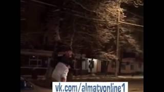 Пьяный дебошир Алматы