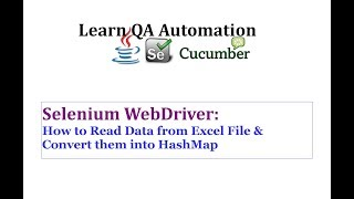 Read Data from Excel and Convert into HashMap for Selenium Testing