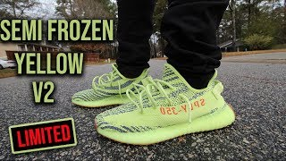 Adidas Yeezy Boost V2 Semi Frozen Yellow Review and On Foot