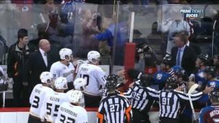 Patrick Roy vs Bruce Boudreau end of game Anaheim Ducks vs Colorado Avalanche 10/2/13 NHL Hockey