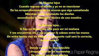 Portami Via (Llevame Lejos) Federica Carta Ft Fabrizio Moro  Lyrics Español