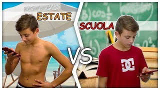 😍 ESTATE Vs SCUOLA 😭 le differenze by Lukas Ceci Lisa