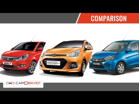 Hyundai Grand i10 Vs Tata Bolt Vs Maruti Celerio | Comparison Video | CarDekho.com