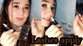 Easiest Way To Apply False Lashes!!!