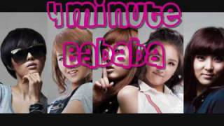 [HQ] 4Minute - Bababa MP3 (Download Link)